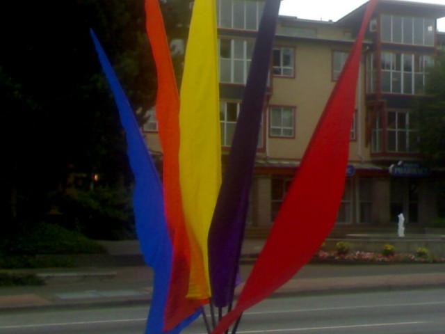 Ornamental Flags at the Giro di Burnaby