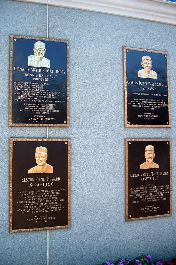 Yankee Stadium Monument Park Plaques Don Mattingly C