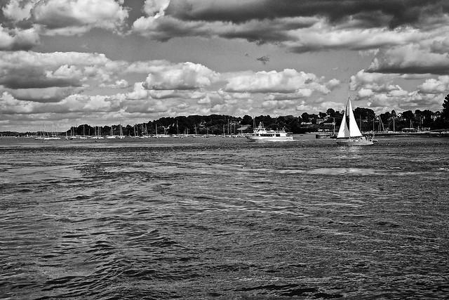 Golfe du Morbihan, face à l'Île aux Moines.