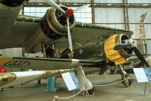 Macchi MC.200 Saetta at the Italian Air Force Museum, Vigna di Valle (Rome)