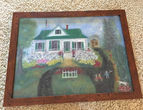 chalk painting of our farmhouse