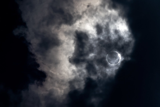Diamond ring effect, 2017 Solar Eclipse, White County, Tennessee 1