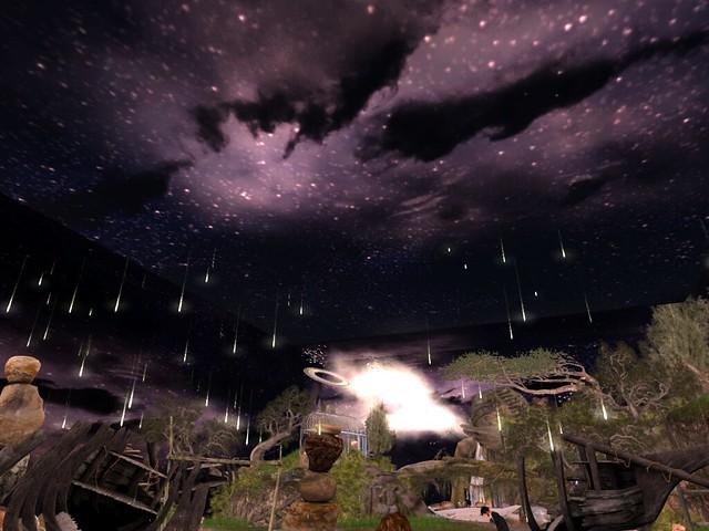 Night Gazing-  Meteor Shower