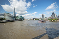Looking along the Thames