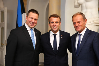 Jüri Ratas, Emmanuel Macron and Donald Tusk | by EU2017EE