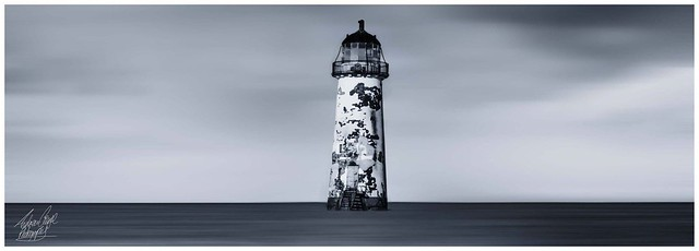 The Point of Ayr Lighthouse in Talacre, North Wales.