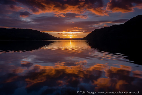 cumbria dawn fells hills lake lakedistrict mountains orange pink reflections sun sunrise ullswater water clouds sky outdoors landscape