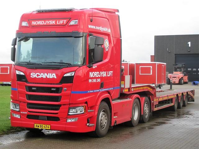 Scania R500 - Nordjysk Lift  Hjørring - AW 80 474