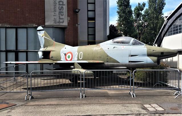 G-91R.1B MM6382/2-20 ex Italian Air Force/ Aeronautica Militare. Preserved, Milano Technic-Museum. 26 July 2017. (Marked MM6420)