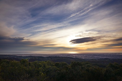 australia adelaide view landscape mountlofty sunset