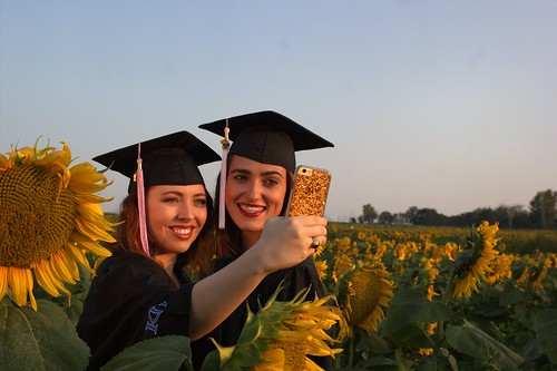 #exploreKU surrounded by sunflowers