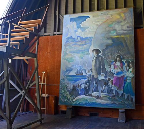 painting ncwyeth brandywinerivermuseum studio canvas