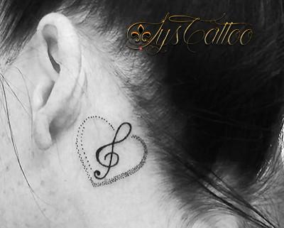 coeur cle sol oreille