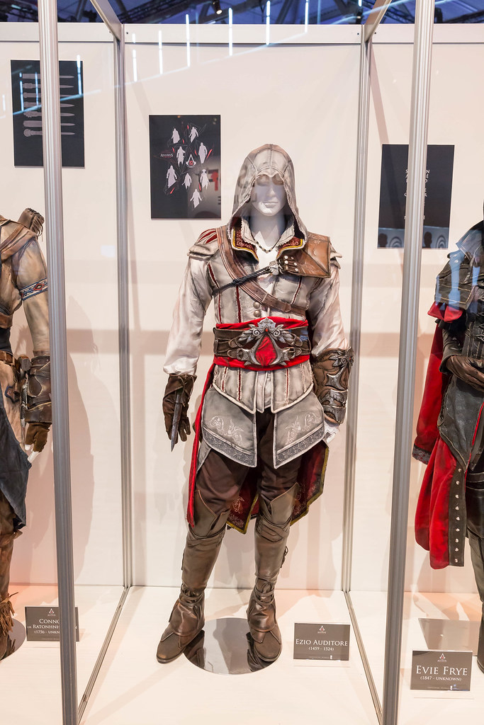 Assassin S Creed Cosplay Ezio Auditore Kostum Gamescom 2 Flickr