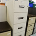 Chubb Perspex 4 drawer filing cabinet E300