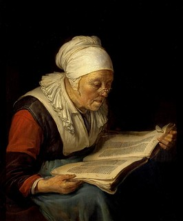 "Hermitage - ""Old Woman Reading a Book"", by Gerrit Dou 