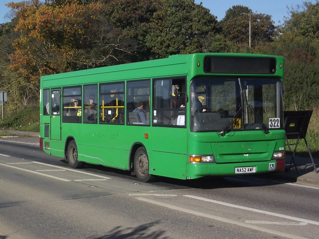 Reprived: Regal Busways Dennis Dart SLF/Mini Pointer Dart NA52AWF Cambridge Road Stansted Mountfitchet 22/09/17