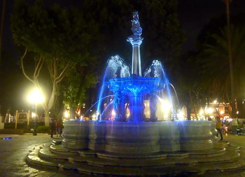 En el Zocalo de Puebla