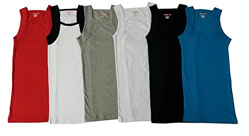 2775192dd ... Men's G-unit Style Tank Tops Square Cut Muscle Ribbed Underwear Shirts  (L,