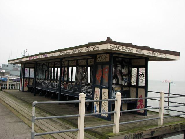 Vandalised shelter, Leigh-on-Sea