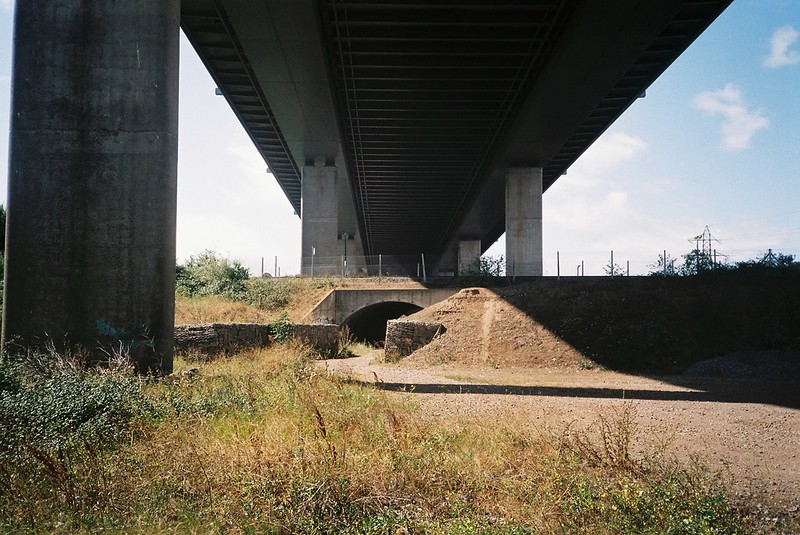 Under the M5 Motorway bridge