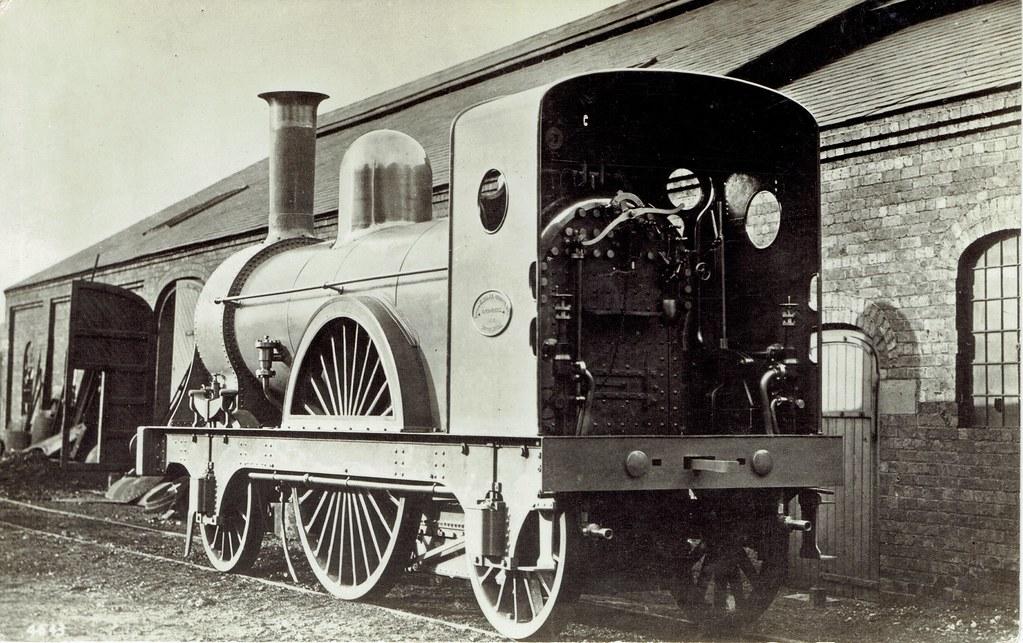 North British Railway - NBR 2-2-2 steam locomotive (Lilleshall Locomotive Company, Shropshire 1867)
