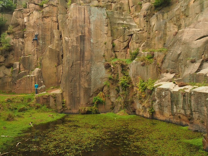 Lawrencefield Quarry. Climbers: Pete Barrass and Miles Bright