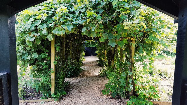 Herbal garden entry, Stafford Castle UK