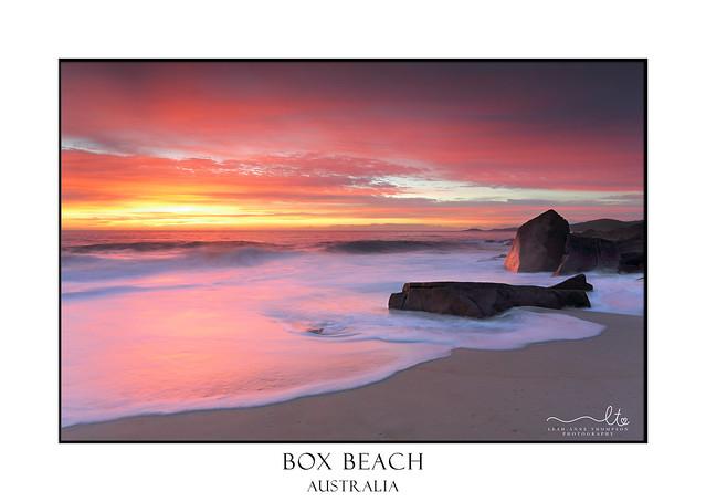 Port Stephens glowing in morning sunrise