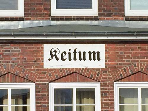 Bahnhofsschild Keitum