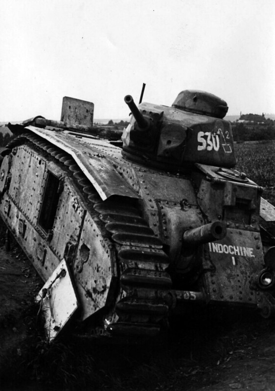 French heavy tank Char B1 bis No. 205