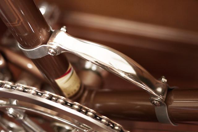 Bianchi Mini Velo 7. Bicycle Frame Handle, Custom Hand Made.