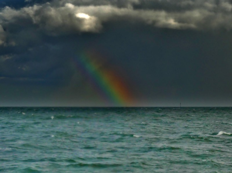 Rainbow on the North-Sea