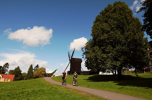 denmark danmark aarhus dengamleby summer europe canoneos760d sigma1750 landscape nature people windmill street bycicle botanicgarden