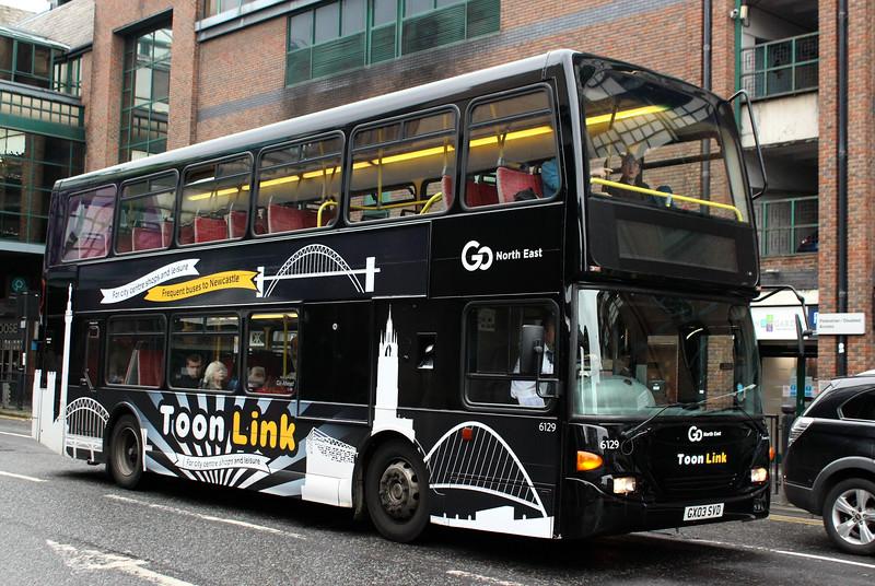 Go North East: 6129 GX03SCD Scania N94UD/East Lancs OmniDekka