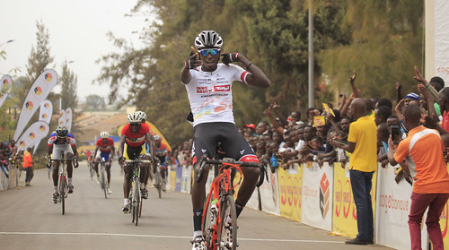Valens Ndayisenga celebrates his victory in Race for Culture at Nyanza (Sam Ngendahimana) (3) | by RWANDA CYCLING FEDERATION (FERWACY)