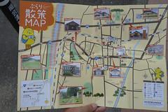 駅の案内所で配布している散策マップ