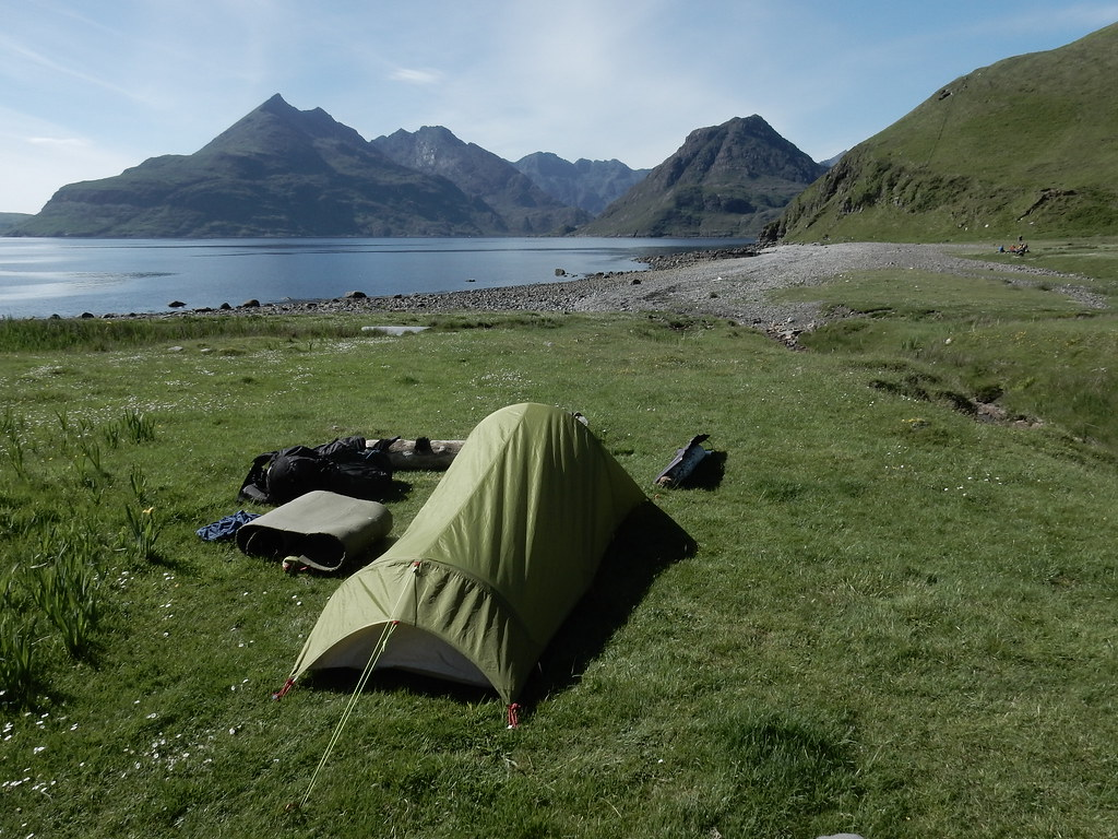 6th wild camping spot on The Skye trail   6th wild camping ...