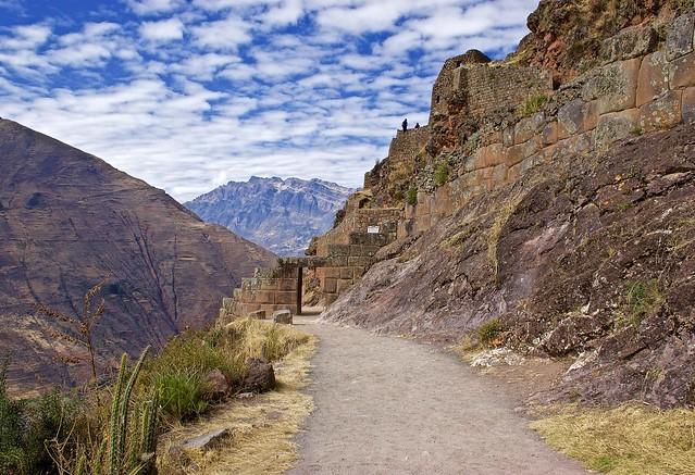 Hiking in the Pisac Incan ruins site