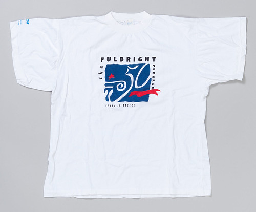 50th anniversary of the Fulbright Program in Greece T-shirt.