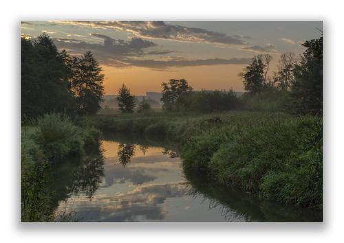 deutschland germany bayern bavaria schmutter augsburgwestlichewälder flus river landschaft landscape sonnenaufgang sunrise natur nature canoneos