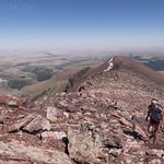 Kristen climbing Red Mountain