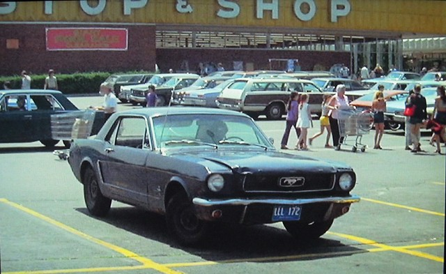 After decades of trial and error, I finally figured out how to bring my digital camera with me into the past. A shot of the Connecticut Post Mall parking lot. It's blurry, but this is version 1 of the technology. Milford Connecticut. July 1973