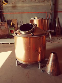 946 litre Still for Crafts Works Distillery under construction. | by burnswelding