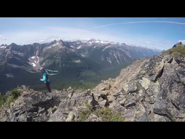 3688 GoPro video panorama from the southwest ridge of Cloudy Peak as we descend