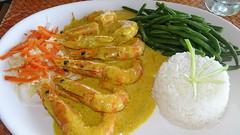 320 Crevettes au curry, Alizée Plage Vakala