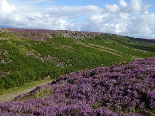 Burbage Rocks from across the valley Sheffield to Bamford walk