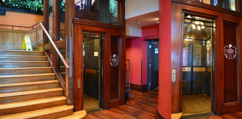 Manually Controlled 1907 Otis Elevator, With 'Birdcage' De