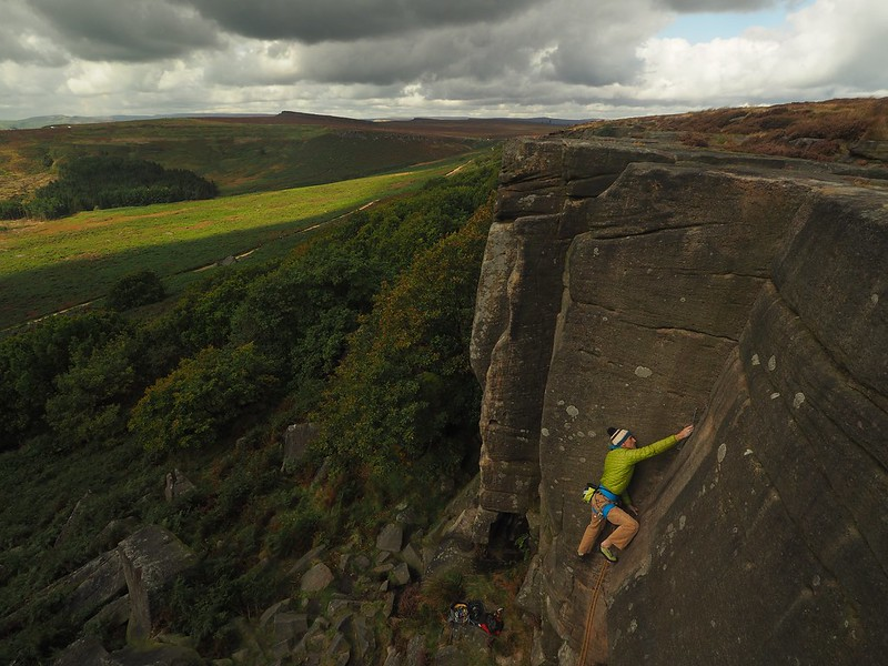 Long Tall Sally on Burbage. Climber: Miles Bright