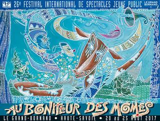 Affiche Festival Au Bonheur des Mômes - 2017   by Le Grand-Bornand